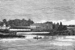 Любар.Палац Водзіцьких. Гравюра 1875г.