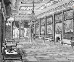 «Золотой» зал в главном дворце Ильинских в Романове
