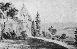 Церковь-усыпальница Ганских. Литография Наполеона Орды