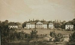 Резиденция Эвелины (Ewelina) Ганской. Литография Наполеона Орды